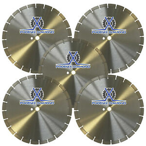 5pck 14 inch General Purpose Segmented Diamond Saw Blade For Concrete