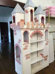 Large Princess Castle Display Shelf Unit Retail Store Display Bookcase Cabinet