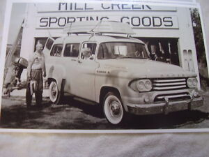 1958 Dodge Town Wagon Truck 11 X 17 Photo Picture