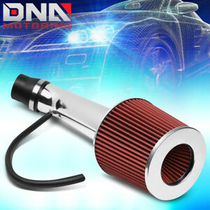 For 1996 2000 Honda Civic Ex Hx Short Ram Air Intake System Kit W Red Filter