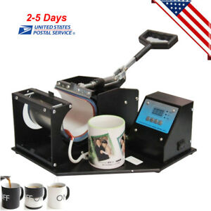 Coffee Mug Cup Sublimation Heat Press Transfer Machine Diy Printer Dual Digital
