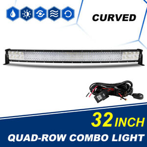 10d Curved 32inch 3808w Led Light Bar Combo Offroad 4wd Truck Atv Ute Boat Pk 12
