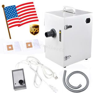 Usa Dental 370w Digital Single row Dust Collector Collect Vacuum Cleaner Machine