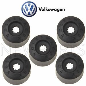 For Vw Beetle Cc Golf Passat Jetta Gti Set Of 5 Black Wheel Lug Bolt Cover Caps