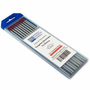 Tig Welding Tungsten Electrodes 2 Thoriated 1 8 X 7 red Wt20 10 pack