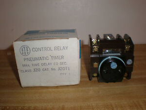 Pneumatic Timer Contol Relay J20 With J20t1 Ite Relay On Delay 120v Coil