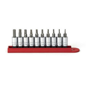 Gearwrench 10 Piece 1 4 Drive Sae Hex Bit Socket Set 80323