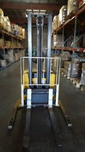Yale Msw040 24v Electric Walkie Stacker pallet Jack W Side Shift 3800 Lbs Max