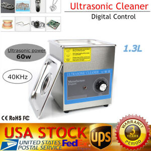 1 3l 60w Stainless Steel Liter Industry Heated Ultrasonic Cleaner Heater Timer
