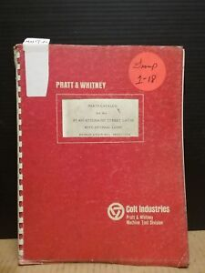 Pratt Whitney Pj 400 Automatic Turret Lathe Parts Catalog M5011 22a