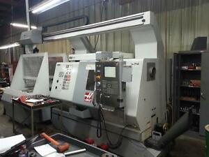 Haas Sl 20tapl Cnc Lathe W Live Tooling Auto Parts Loader And Much More