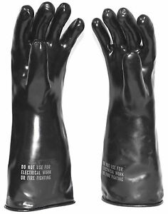Norton Company Chemical Protective Gloves W Cotton Inserts Mil g 43976 Sm Med Lg
