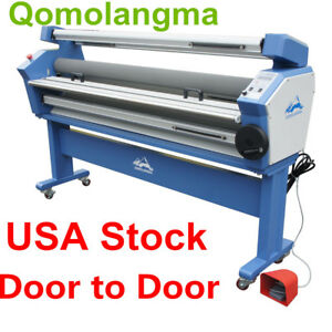 110v 55 Full auto Low Temp Heat Assisted Wide Format Cold Laminator Stand