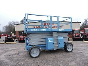 2007 Genie Gs4390rt Scissor Lift Jlg Rough Terrain 4x4 Good Condition