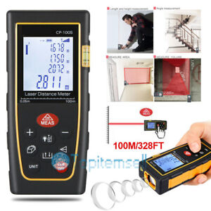 100m 328ft Digital Lcd Laser Distance Meter Range Finder Measure Tape Tool