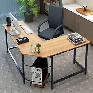 L shaped Desk Corner Computer Gaming Laptop Table Workstation Office Home Desk