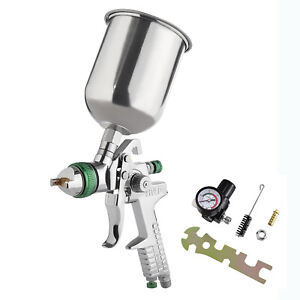 2 5mm Hvlp Gravity Spray Gun Kit With Auto Paint Primer Metal Flake