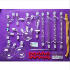 New Lab Chemistry Glassware Kit laboratory Glassware Set With 24 29 Joints