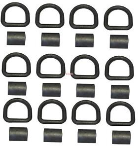 12 Pack 5 8 Heavy Duty Weld on Forged D Ring 18 000 Lbs