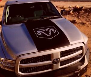 Dodge Ram 1500 Hemi Logo Hood Vinyl Decal Racing Stripe Mopar Graphics 5 7l Rt