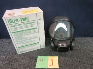 Lab Safety Ultra Twin Respirator Face Piece Mask Chemical Science Msa Medium New