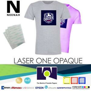 Neenah Laser 1 Opaque Dark Heat Transfer Paper A4 250 Sheets Best Usa Seller