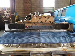 68 69 Dodge Charger Front Grille Grill Hidden Headlights 1968 Complete Bucket