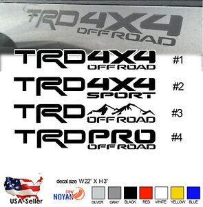 Trd Pro Off Road Decals Toyota Tundra Tacoma Truck Bed Vinyl Stickers