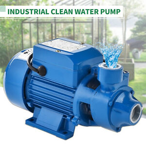 1hp Electric Clear Water Pump Dirty Pool Pond Farm Clean