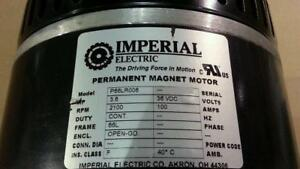 Imperial Electric 36v Dc Permanent Magnet Motor 3 6 Hp 2100 Rpm