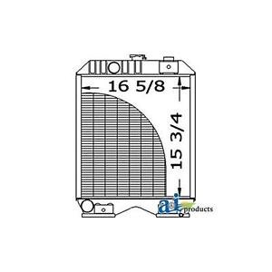 Sba310100620 New A i Radiator For Ford new Holland Tractor Tc30 1320 1520 1620