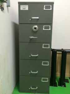 Mosler Gsa Approved   $490.00. Mosler Gsa Approved 5 Drawer File Cabinet  With Combination Lock Mosler 4 Drawer Security Safe