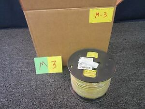 500 Ft Spool Yellow 12 Wire Thhn Stranded Copper 15 Mil Insulation 600v Max