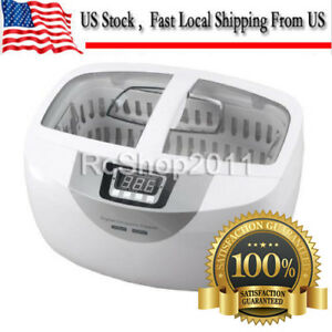 2 5l Digital Ultrasonic Cleaner F Dental Jewerly Stainless Steel W Timer Heater