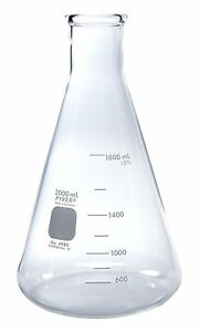 Pyrex 2l Narrow Mouth Erlenmeyer Flasks With Heavy Duty Rim 1 pk