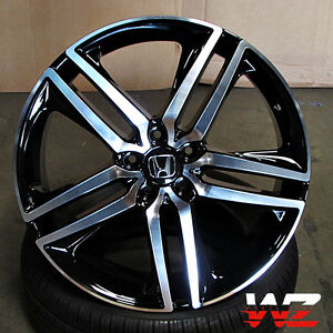 19 Honda Wheels Black Machined Fits Accord Ex Lx Coupe Sedan 5 Lug Civic