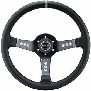 Sparco 015l800pl Leather Steering Wheel New
