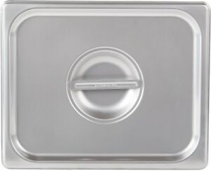 1 2 Size Stainless Steel Steam Table Buffet Hotel Pan Lid Cover pack Of 6