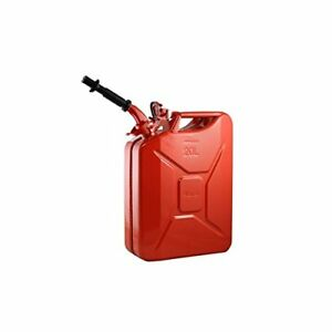 Wavian 3009 Steel Gas Nato Jerry Can With Spout 20 Litre 5 28 Gallon Red