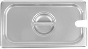 1 3 Size Stainless Steel Steam Table Buffet Hotel Slotted Pan Lid Cover 6 Pack