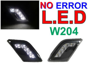 Depo No Error White Led Smoke Bumper Side Marker Light For 08 11 W204 C Class