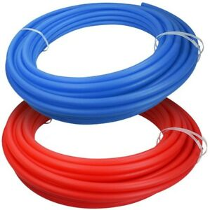 Potable Water Pipe Combo Filtration Tubing Pex Red blue 3 4 In X 300 Ft