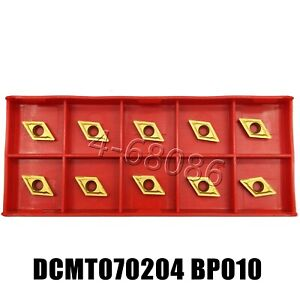 Dcmt070204 Ue6020 Dcmt21 51 Carbide Inserts Lathe Turning Inserts Cnc Tool 10pcs