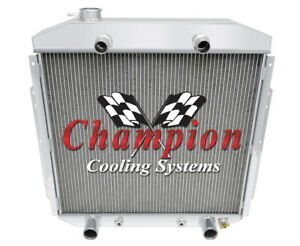 3 Row Cold Champion Radiator For 1953 1954 1955 1956 Ford Truck Flathead Engine