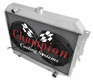 3 Row Cold Champion Radiator 2 12 Fans For 1968 1972 Plymouth Gtx Small Block