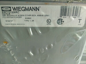 Hubbell Wiegmann Rainproof Screwcover Box rsc101006rc 10 X10 X 6 new