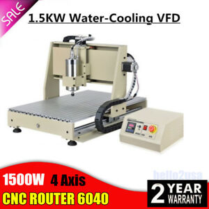 1 5kw Cnc Router 4axis 6040 Engraver Engraving Milling Drilling 3d Cutter Vfd Us