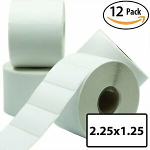12 Rolls 2 25x1 25 Direct Thermal Label Self adhesive For Fba Fnsku Barcodes