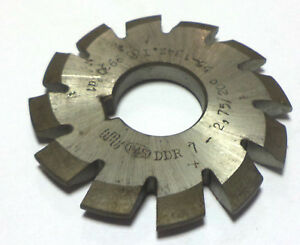 Module Milling Cutter Involute Gear Side And Face Hss 7 2 75 20 55 134z Wmw