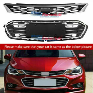 Front Bumper Upper Grill Middle Lower Grille For Chevrolet Cruze 2016 2017